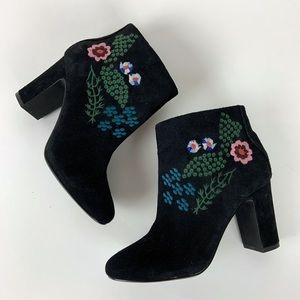 Nanette Lepore Beverly floral ankle booties